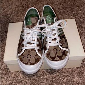 Coach tennis shoes. Size 10.